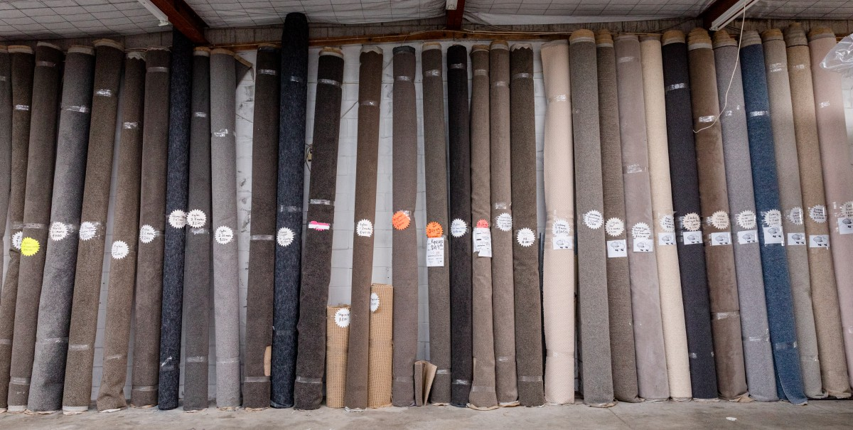 The large selection of carpet at Carpet and Matland
